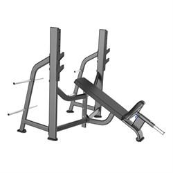 E-7042 Скамья-стойка для жима под углом вверх (Olympic Bench Incline) - фото 4711