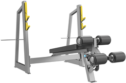A3041 Скамья-стойка для жима под углом вниз (Olympic Decline Bench) - фото 4760