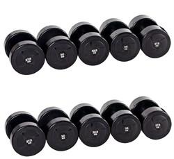 Гантельный ряд PROFI-FIT POWER 27,5 кг - 37,5 кг (5 пар), шаг 2,5 кг - фото 4868