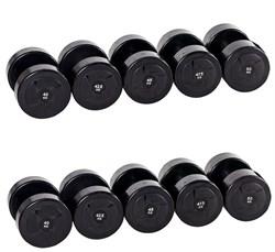 Гантельный ряд PROFI-FIT POWER 40 кг - 50 кг (5 пар), шаг 2,5 кг - фото 4869