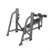 E-7041 Скамья-стойка для жима под углом вниз (Olympic Decline Bench)