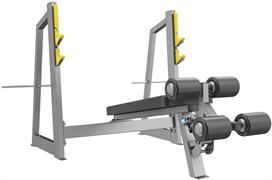 A3041 Скамья-стойка для жима под углом вниз (Olympic Decline Bench)