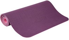 Коврик для йоги и фитнеса PROFI-FIT, 6 мм, ПРОФ (фиолетовый-розовый)